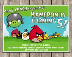 Angry Birds Invitation, Angry Birds Birthday Invitation, Angry Birds Birthday…