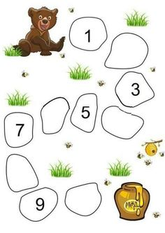 Preschool Writing, Numbers Preschool, Kindergarten Math Worksheets, Worksheets For Kids, Alphabet Worksheets, Preschool Learning Activities, Math For Kids, Kids Education, Diy Decorating