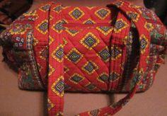 """Vera Bradley """"Villa Red""""  Handbag Retired Bag"""