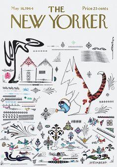 Copertina - The New Yorker - 16 maggio 1964 (Saul Steinberg)
