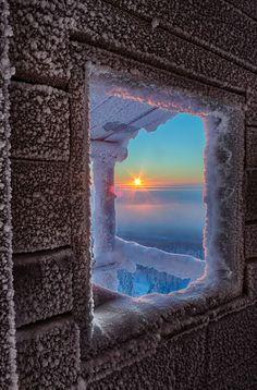 """bluepueblo: """"Frosty Sunrise, Lapland, Finland photo by julius """""""