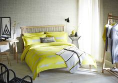 Scion Living's famous Mr Fox has made his way onto bedding! We love this citrus and grey colour.