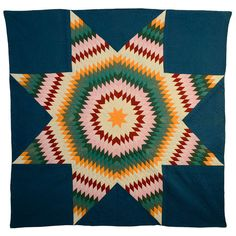 Lone Star Quilt   From a unique collection of antique and modern quilts at http://www.1stdibs.com/furniture/folk-art/quilts/