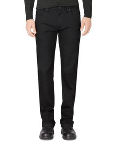 Calvin Klein Stretch Black Straight-Fit Jeans