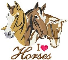Heart For Horse Embroidery Designs, Machine Embroidery Designs at EmbroideryDesigns.com