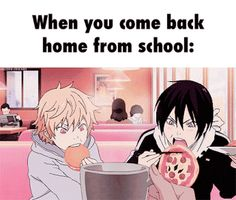 Exactly... <Kyoko> It reminds me of Happy and Natsu...I'm sorry Noragami fandom!