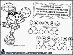 Atividades Dia Do Circo - Turma da Mônica