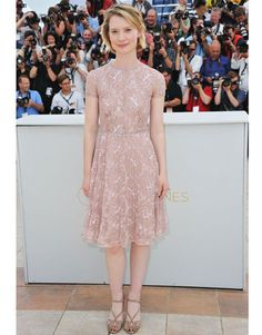 Mia Wasikowska in Valentino at the Restless photocall