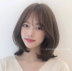 Pin by Eaint Hmoo on Korean hairstyles in 2019 Haircuts For Medium Hair, Medium Hair Styles, Curly Hair Styles, My Hairstyle, Pretty Hairstyles, Midi Hair, Hd Make Up, Korean Short Hair, Shot Hair Styles