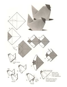 origami chicken--either decoration or activity