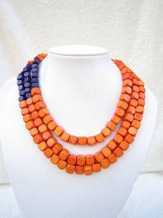 orange and purple jewelry