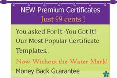 www.certificatestreet.com  create free certificates
