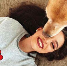 Photos With Dog, Girl Photos, Puppy Pose, Selfie Poses, Girl Photo Poses, Girl And Dog, Photo Instagram, Tumblr Girls, Thalia