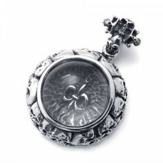 Covet Jewelry Tribal Decorated Scorpion 316L Stainless Steel Pendant