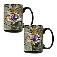 Baltimore Ravens Open Field 2Pc. Ceramic Mug Set: Amazon.com: Kitchen & Dining