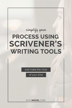 Ready to simplify your writing process so that you can make the most of your time? Check out this article on using Scrivener's built-in writing tools Writing Programs, Writing Advice, Writing Resources, Writing Help, Writing A Book, Writing Ideas, Writing Courses, Academic Writing, Writers Notebook