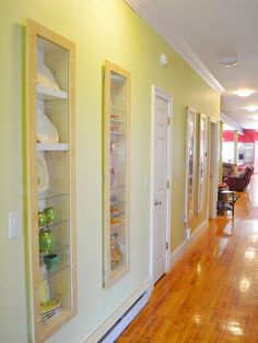 """Between The Studs Storage Design, Pictures, Remodel, Decor and Ideas."" For in our hallway, our bathrooms and in the dining room. For displaying special items, extra storage, could do doors for concealed storage or open shelving for display/easy access."