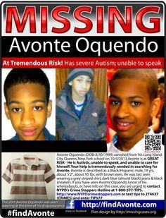 PLEASE HELP FIND AVONTE OQUENDO (SEVERELY AUTISTIC)