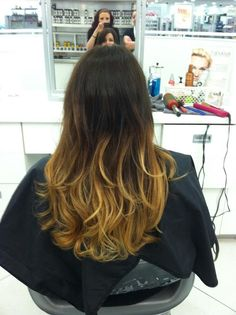Ombre hair color by Shawna Roose