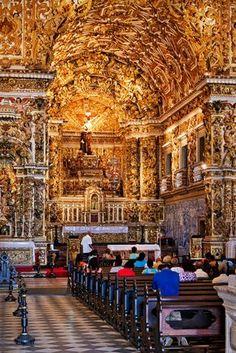 Salvador - Bahia,Brasil Igreja de São Francisco de Assis toda em ouro..