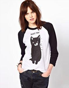 Aumentar Camiseta con estampado de gato Black Paw exclusiva para ASOS de Black Score by Simeon Farrar