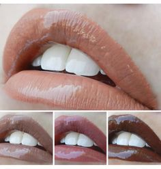 Here are new #LipSense shades Nude Siena, Hazelnut, Bella and Espresso topped with Glossy Gloss! #LoveTheSkinYouAreIn