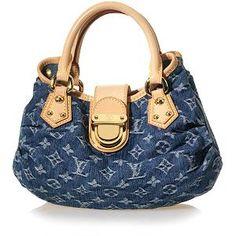 Louis Vuitton Denim Pleaty Handbag    $1210