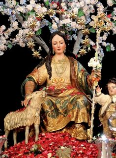 Divina Pastora de Cantillana    Mary as the Divine Shepherdess in Cantillana in Andalusia, Spain.  Spain, Divine shepherdess