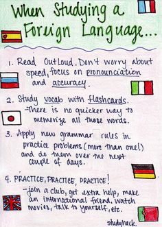 Study-Hack : When studying a Foreign Language tips... very helpful !