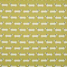Hound Dog Curtain Fabric
