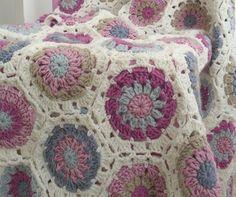 Hexagon blanket--Cute colors!