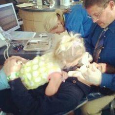 Skylynn watching nash at dentist