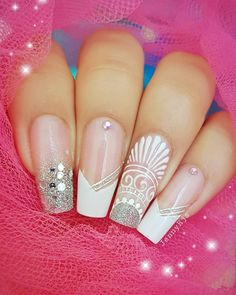 Bling Nail Art, Toe Nail Art, Bling Nails, Stiletto Nails, Henna Nails, Lace Nails, Popular Nail Designs, Luxury Nails, Trendy Nail Art