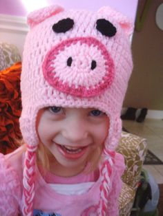 Pig Earflap Hat  @Shannon Trull