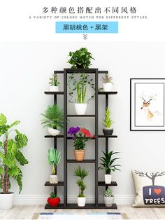 Vaso de flores está com planta de madeira 39 x 129 cm Bathroom Shelf Songmics Cole & Grey Ladder Bookcase Finish: *エアープランツ*<BR>『チランドシア・. Garden Shelves, Plant Shelves, Home Decor Furniture, Garden Furniture, Furniture Ideas, Garden Rack, Decoration Plante, Apartment Balcony Decorating, Inside Plants