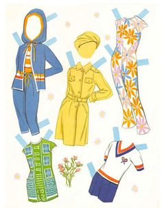 Muñecas de papel bonitas Belles