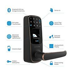 Amazon.com: Ultraloq UL3 BT Bluetooth Enabled Fingerprint and Touchscreen Keyless Smart Lock (Satin Nickel): Amazon Launchpad