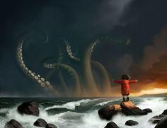 tentacles waving