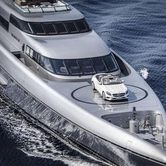 When you casually take your Mercedes S63 AMG with you for a holiday on your $95 Million super yacht -