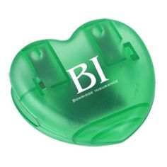Your promotional message takes shape on this heart shaped clip!
