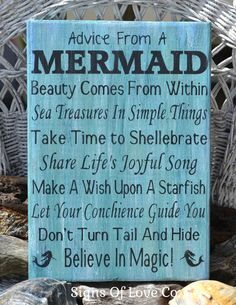 #advicefrom #mermaids #advicefromamermaid #beach #decor #sign #etsy