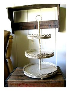Tiered trays...theyre always beautiful and have so many uses!  Lovely-  .Delia- 3 Tier Tray Display Stand Rack  48.90