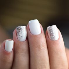 32 Holiday Nail Art Ideas To Get You Into The Christmas Spirit 32 Holiday Nail Art Ideas To Get You Into The Christmas Spirit,pretty nails Christmas Nail Art Designs Silver Nail Art, White Nail Art, White Art, White And Silver Nails, White Acrylic Nails, Holiday Nail Art, Christmas Nail Art Designs, Glitter Nails, Fun Nails