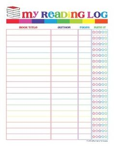 This is a free reading log for your students to enjoy. A simple and colorful, yet effective way for them to write down the books they have read this year. They are given four spaces to fill in...Book Title, Author, Number of Pages & Star Rating. Hope you enjoy this product.