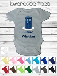 Baby Dr Who Inspired Infant Onesie  5 sizes  15 by lowercasetees, $19.00