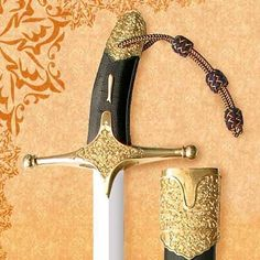 Arabic sword of Muhammad the Prophet. Luxury reproduction of the real sword of Prophet lokated in Topkapi musum, Istanbul, Turkey.