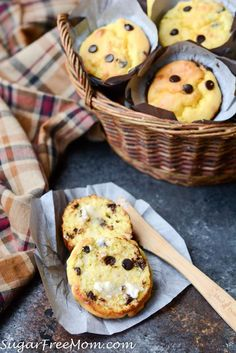 Sugar-Free Chocolate Chip Muffins (Low Carb, Nut Free)