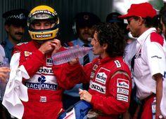 Ayrton Senna and Alain Prost in 1988