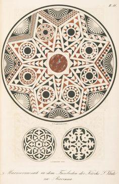 F. M. Hessemer, marble mosaic floor of S. Vitale, Ravenna. 1842