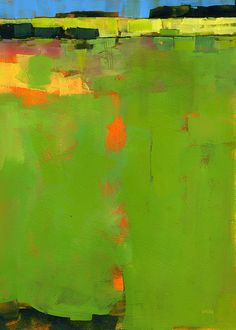 Paul Bailey Poster Print Wall Art Print entitled Green Field, None Contemporary Abstract Art, Contemporary Landscape, Modern Art, Contemporary Building, Contemporary Cottage, Contemporary Office, Contemporary Interior, Contemporary Architecture, Landscape Architecture